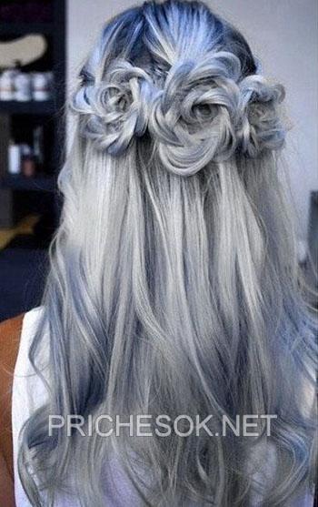 Седые волосы тренд сезона