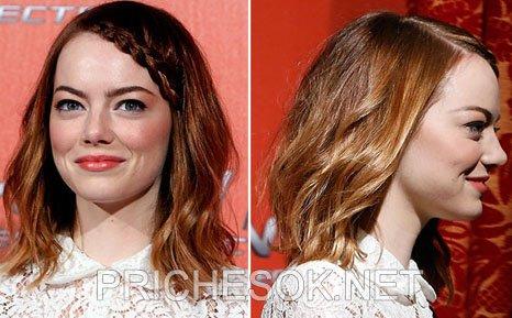 Эмма Стоун нарастила волосы